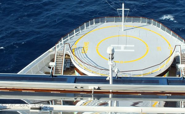 Helipad from Solstice Deck...