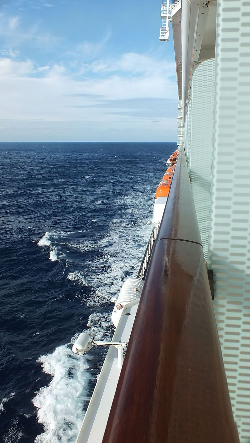 Looking aft...