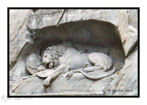 Lucerne's Löwendenkmal...