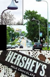 Hershey Kiss streetlights...