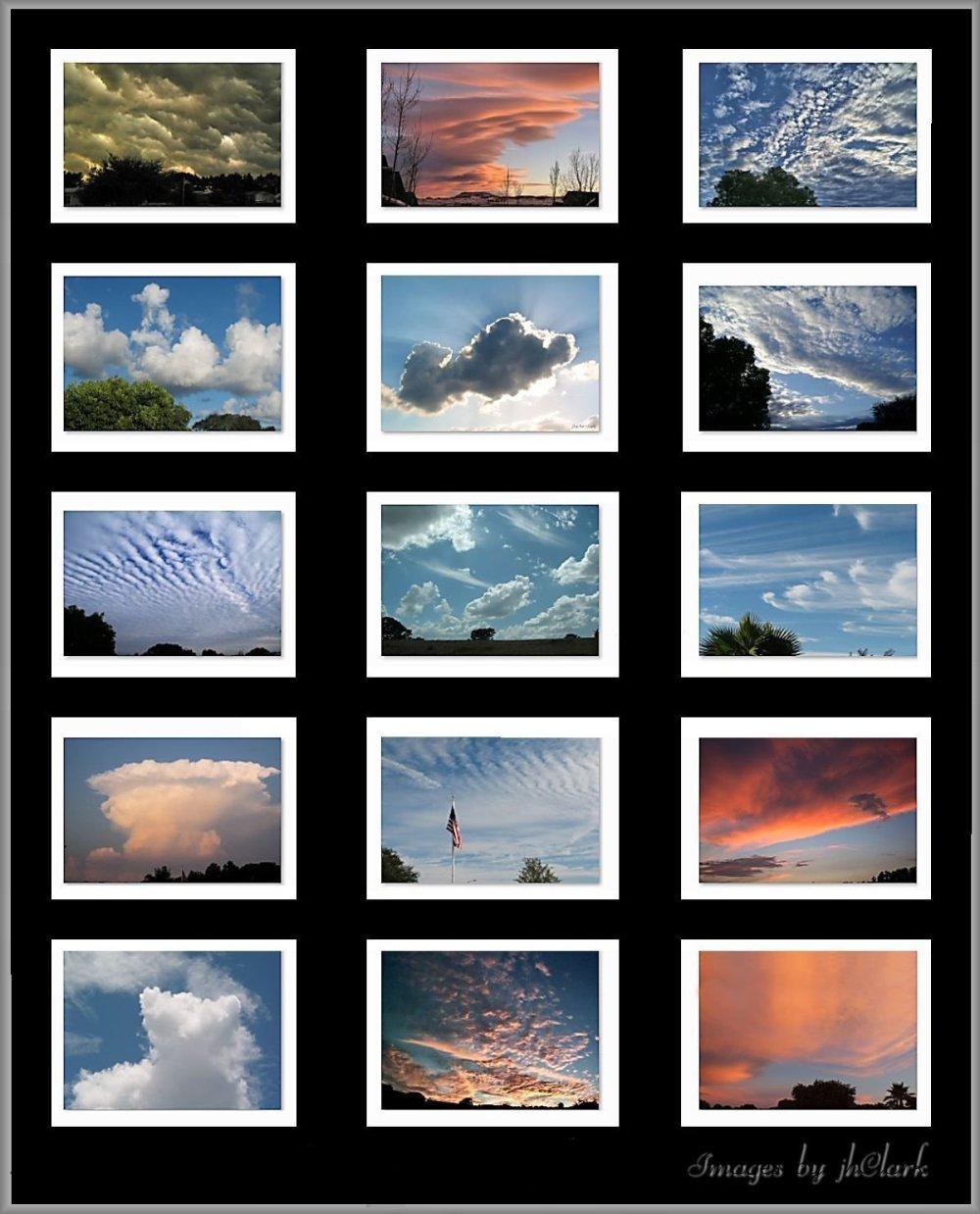 Clouds overhead...