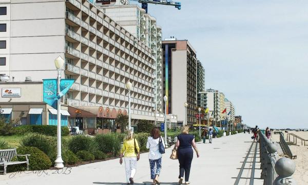 Walking the boardwalk...