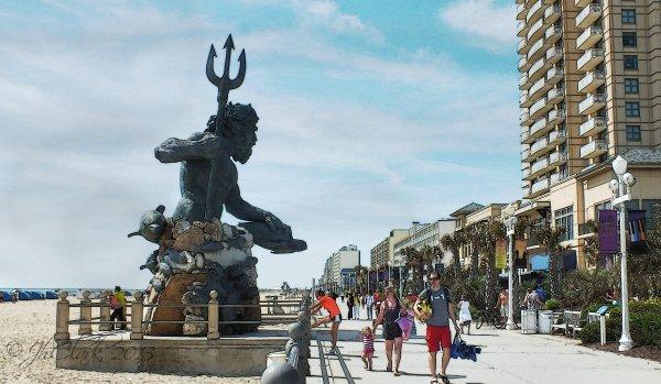 Neptune on Virginia Beach...