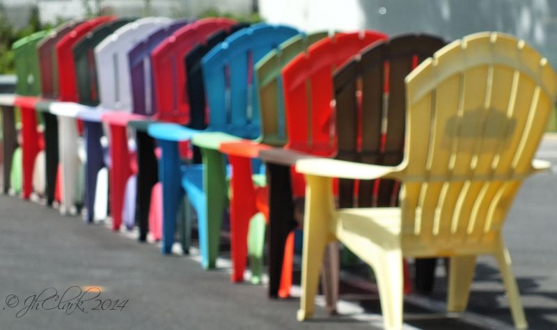 Silly row of chairs...