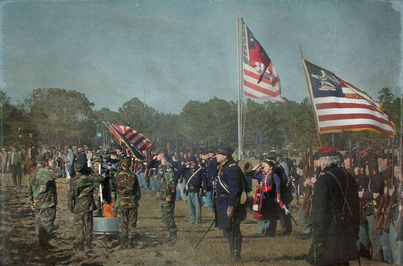 Flag retirement ceremony 2...