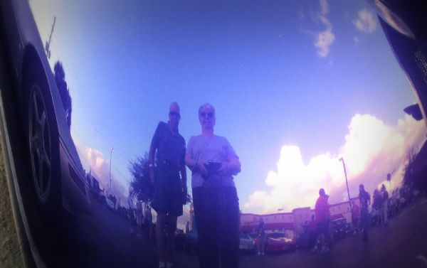 Silly selfie in an indigo...