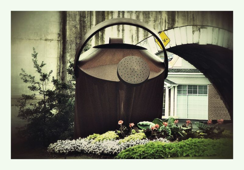 Giant watering can...