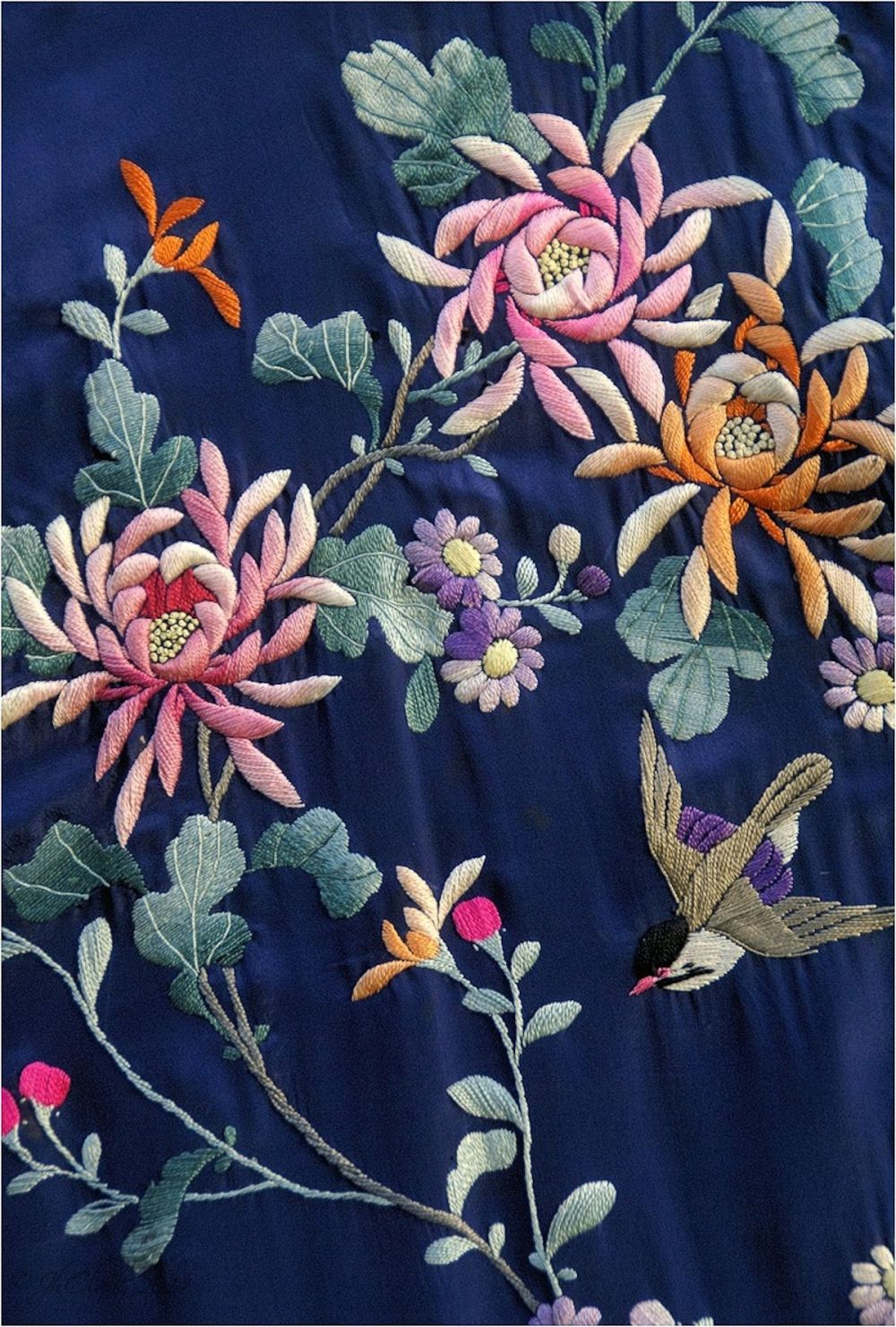 Silk embroidery...