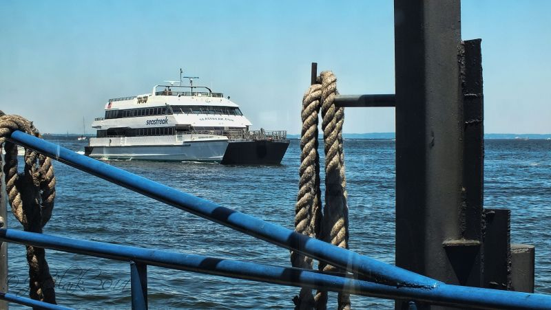Seastreak Ferry at Highlands N J...