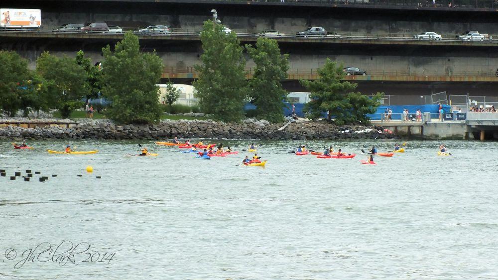 Kayakers in Brooklyn...