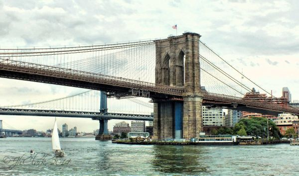 The Brooklyn Bridge, a closer view...