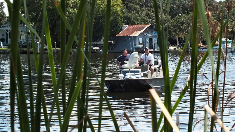 Returning fishermen...