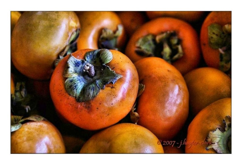 Persimmons...