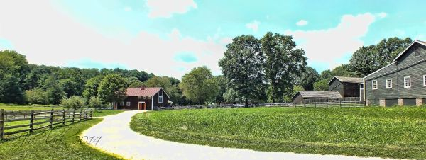 Looking left at Longstreet Farm...