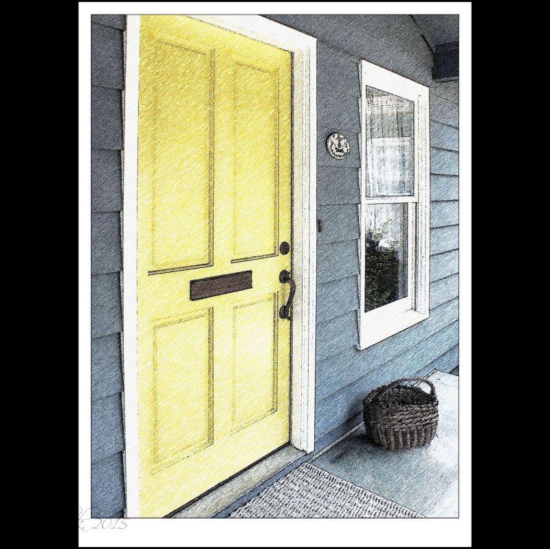 Yellow door...