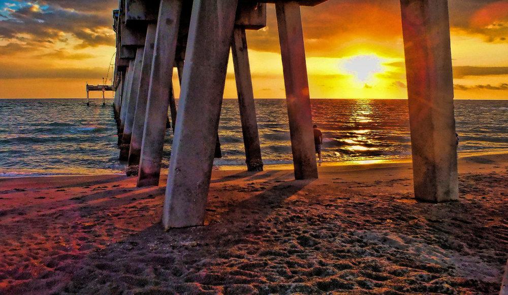 Beneath yesterday's pier...