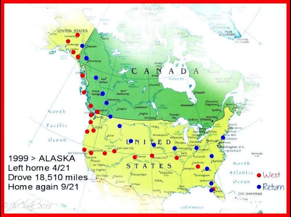 1999 trip map...
