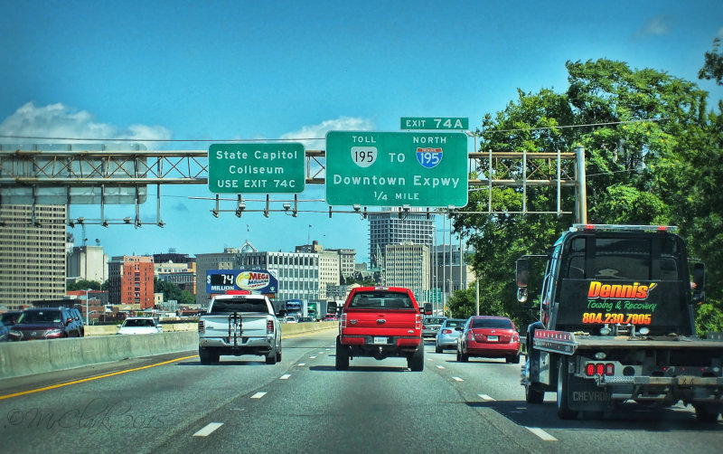 Driving through Richmond, VA