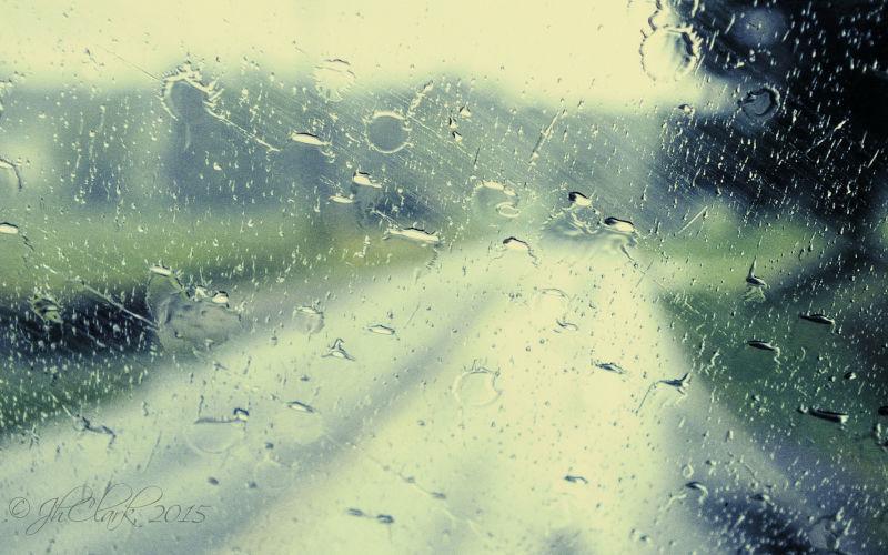 Rain below the Blue Ridge...
