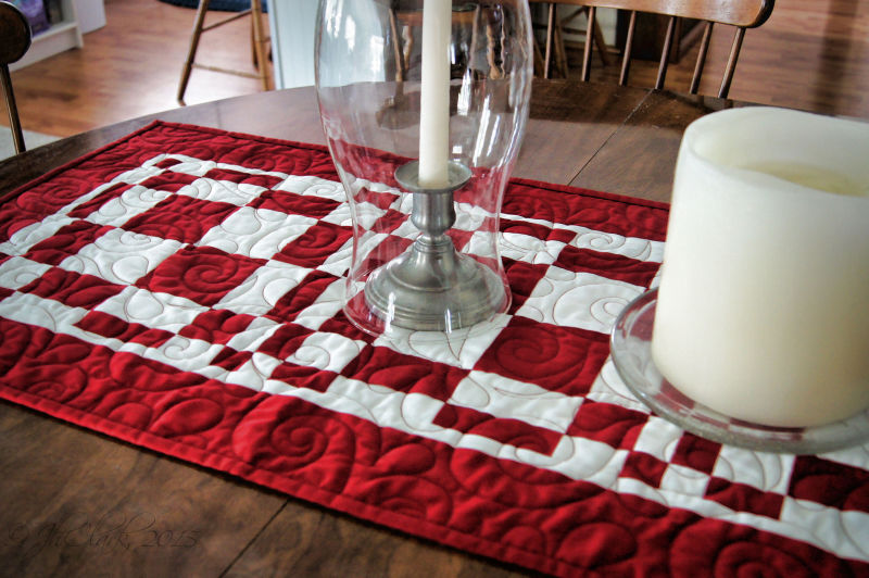 Quilted by a local man...