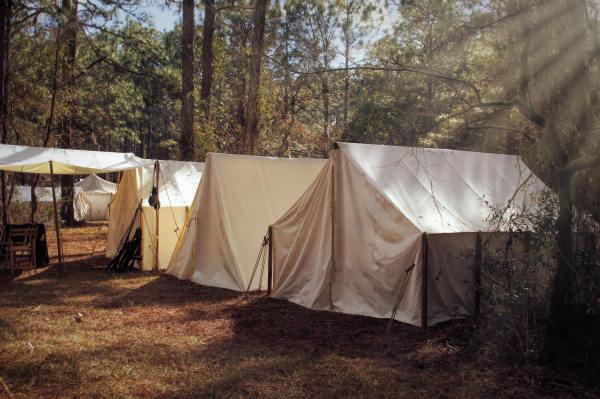 Union tents...