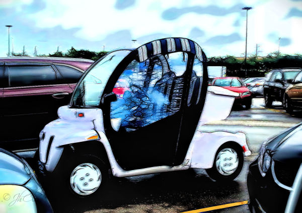 Mini-popemobile at Walmart...