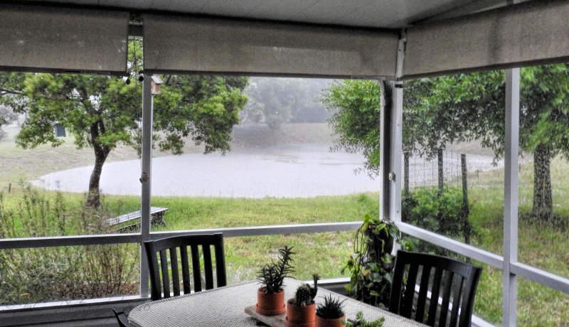 Heavy rain in mid-May...