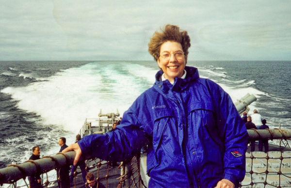 Patty on USS Shiloh...