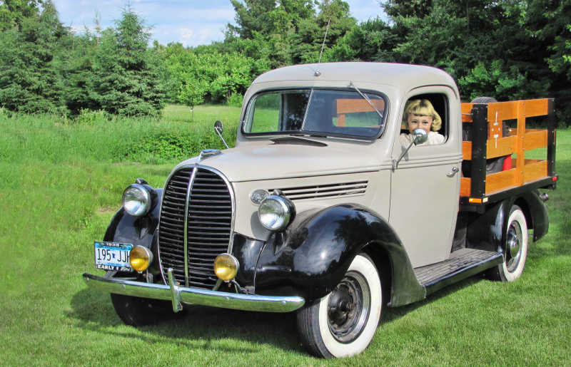 Me in a 1938 Ford...