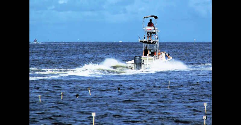Heading out in the Gulf...