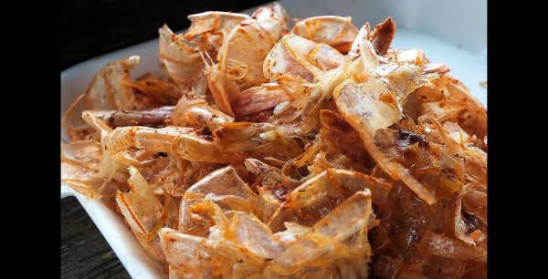 Spent shells...er, shrimp...