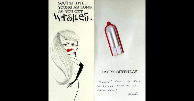 Silly card from Dad...