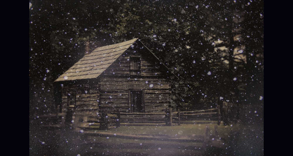 Puckett Cabin in snow...