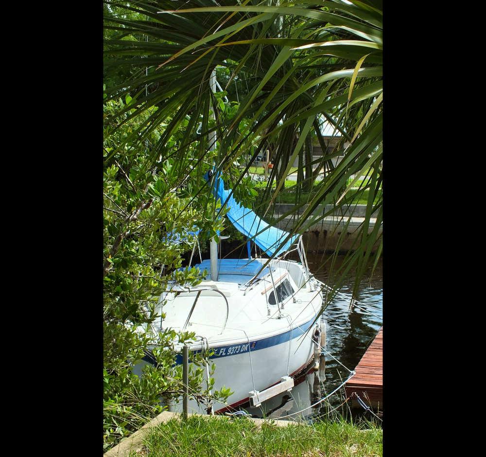A CAL sailboat...