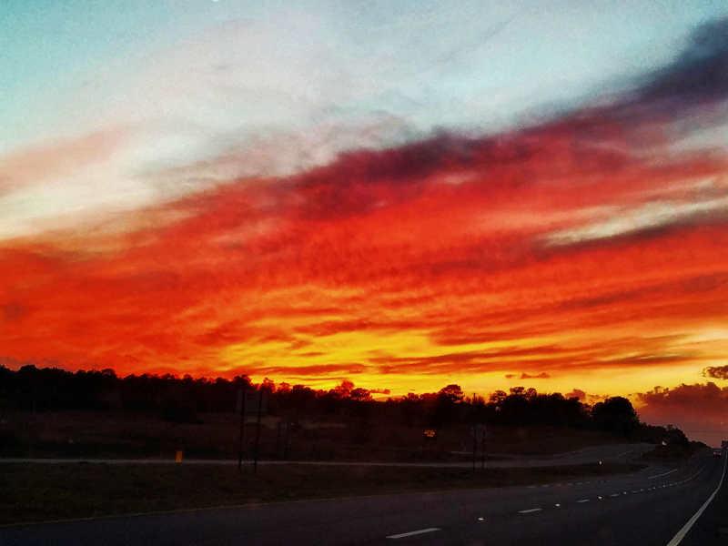 Sundown over Rt. #50...