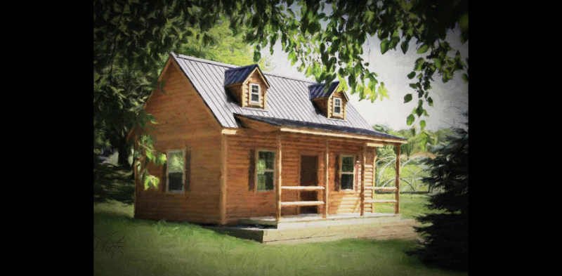 Another log cabin...