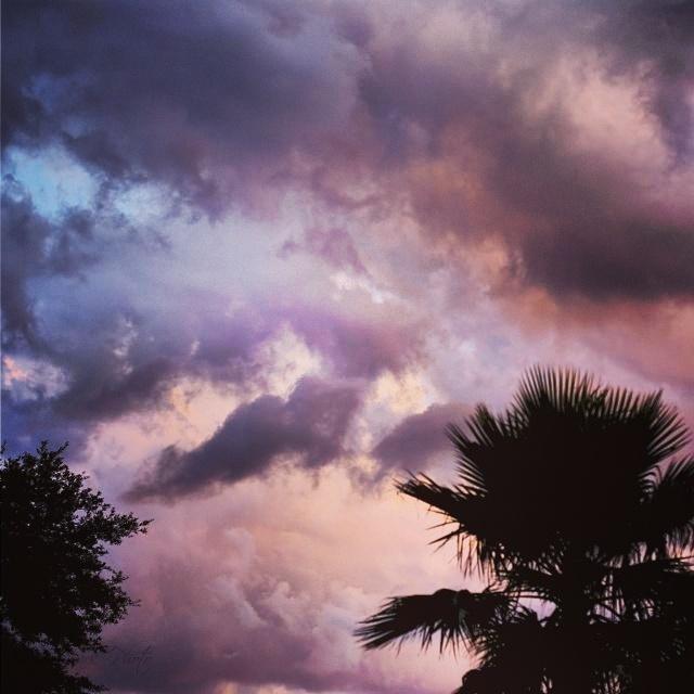 Pink & blue sky...