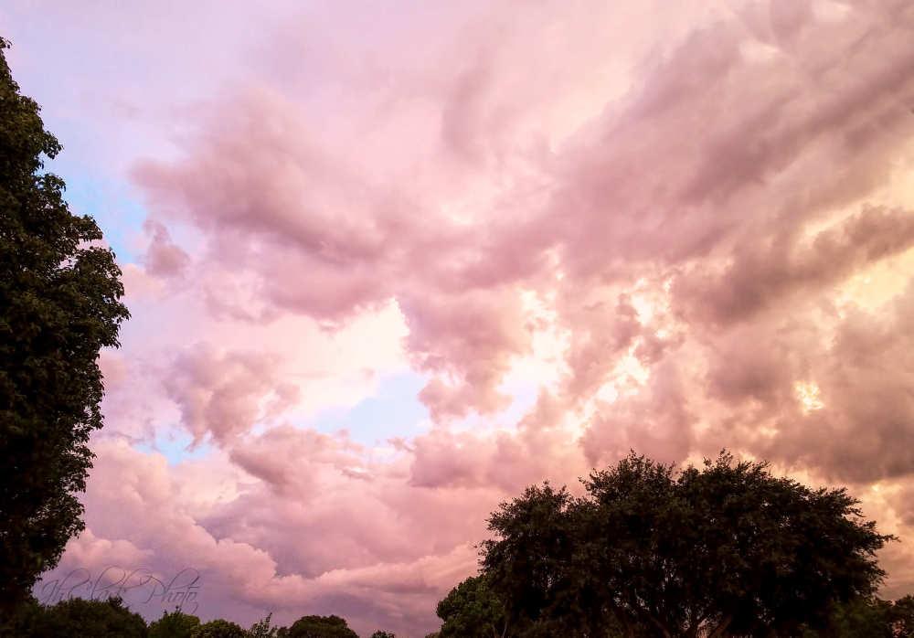 Pink sky at night...