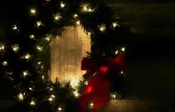 Front porch wreath...