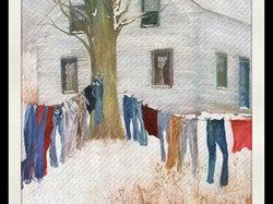 Frozen laundry...