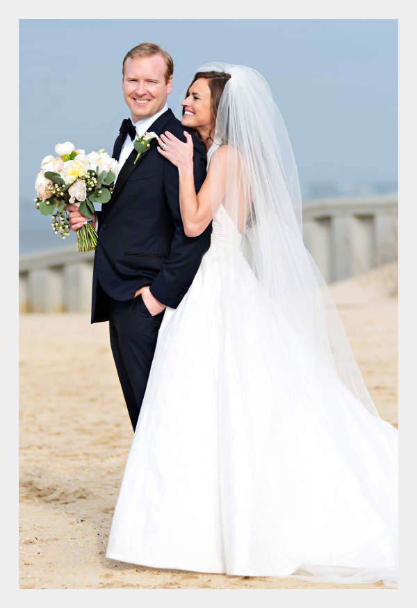 The beaming newlyweds...