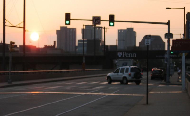 Walnut Street sunset