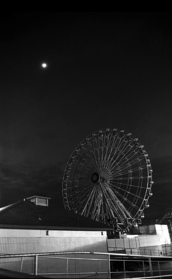 Ocean city at night