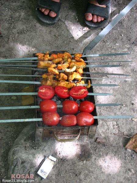 جوجه كباب گوجه broil Grill Rotisserie Skewer Spit