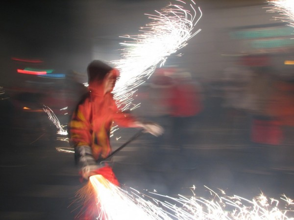 Correfoc in Barcelonal during La Merce