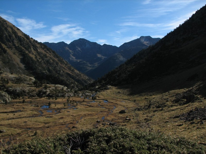 Valley in the Pyrenees in Catalonia