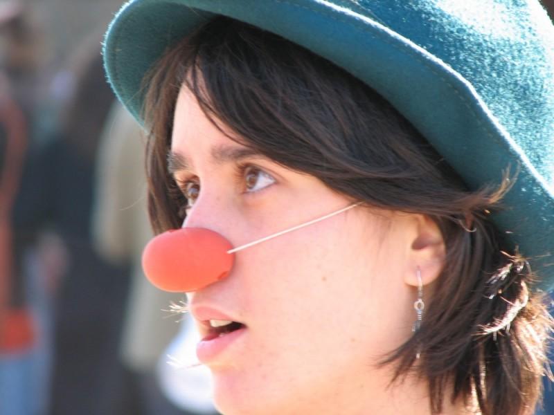 A clown in a festival.