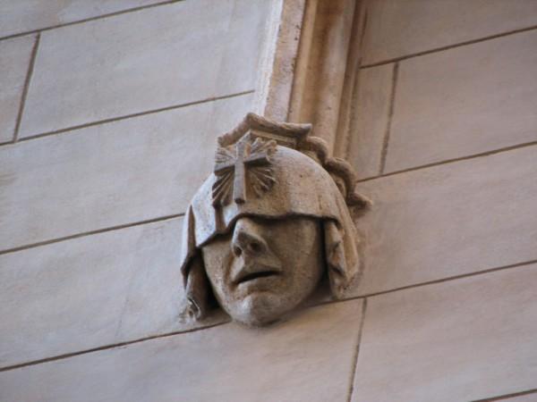 Statue face Mallorca