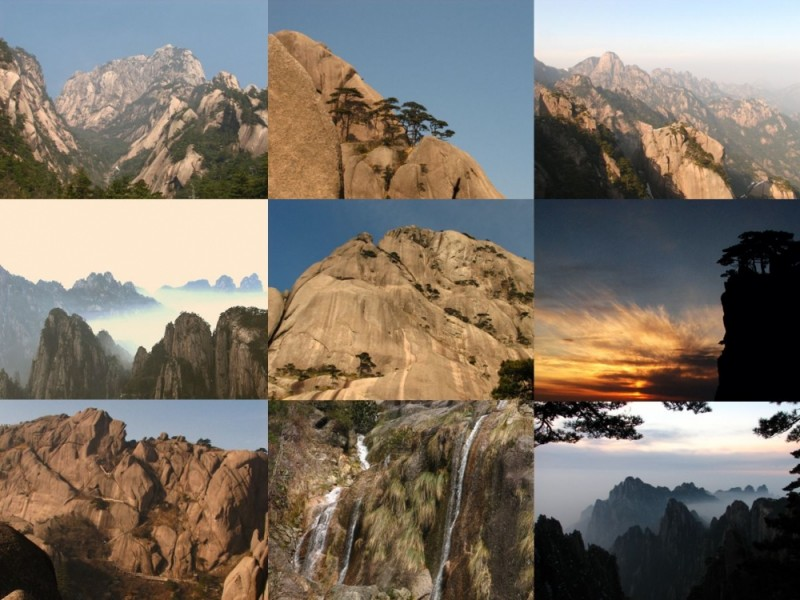Huangshan in southern of Anhui Province