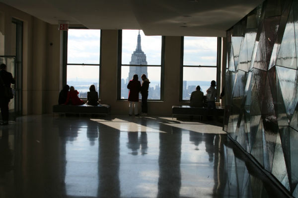 photo of the Empire State from the Top of the Rock